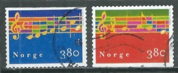 Norvège YT N°1254/1255 Noel 1998 Chants Oblitéré ° - Norvège