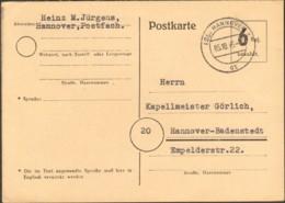 Bizone Brit. Zone Behelfsausgabe P 673 Gest. 10/45 Hannover Bedarf - Bizone