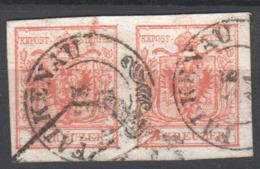 Österreich Klassik , Schön Gestempeltes 3 Kreuzer Paar - Used Stamps