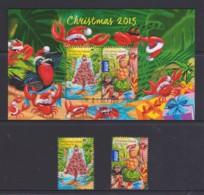 Christmas Island 2015 Christmas Set Of 2 + Minisheet CTO - Christmas Island