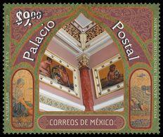 2019 MÉXICO PALACIO POSTAL, ARQUITECTURA  MNH,  POSTAL PALACE, Architecture, Fine Arts, Education, Institutions - México