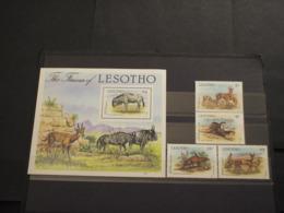 LESOTHO - 1987 FAUNA 4 VALORI + BF -  NUOVI(++) - Lesotho (1966-...)
