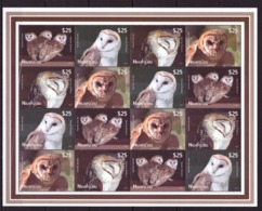 Niuafo, 2012. [n1220] Birds, Owls (sheet) - Owls