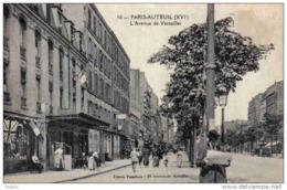 Carte Postale 75. Paris Auteuil  L'avenue De Versailles Très Beau Plan - Non Classés
