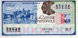 """BILLET DE LOTERIE De 1969 Sur Le Thème """"Les Grands Peintres : COROT (L'île Et Le Pont De San-Bartomoméo)"""" - Billets De Loterie"""