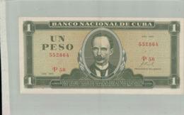 Billet De Banque   Banco Nacional De Cuba 1 Peso 1970   Sept 2019  Alb Bil - Cuba