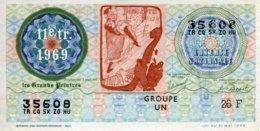 """BILLET DE LOTERIE De 1969 Sur Le Thème """"Les Grands Peintres : TOULOUSE LAUTREC (Jane Avril)"""" - Billets De Loterie"""