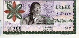 """BILLET DE LOTERIE De 1969 Sur Le Thème """"Les Grands Peintres : GAUGUIN"""" - Billets De Loterie"""