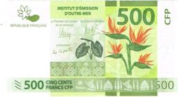 C1 Billet Banknote IEOM Banque France Nouvelle-caledonie Polynesie Francaise Wallis Futuna Taro Fleur 500f Unc Neuf - Frans Pacific Gebieden (1992-...)