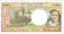 K54 Billet Banknote IEOM Banque France Nouvelle-caledonie Polynesie Francaise Wallis Futuna 1000f Cerf Cagou Unc Neuf - Frans Pacific Gebieden (1992-...)