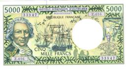 Z16 Billet Banknote IEOM Banque France Nouvelle-caledonie Polynesie Francaise Wallis Futuna 5000f Bougainville Unc Neuf - Frans Pacific Gebieden (1992-...)