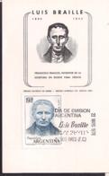 Argentina - 1976 - FDC - Luis Braille. Pédagogue Français, Inventeur De L'écriture De Secours Pour Les Aveugles - Autres