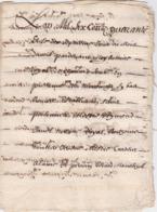Document Du 17 Avril 1640 - M. Deleutre à Châteaurenard (13) - Parchemin - Manuscrit - Manuscrits