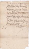 Document Du 16 Février 1601 - M. Bigand à Châteaurenard (13) - Parchemin - Manuscrit - Manuscrits