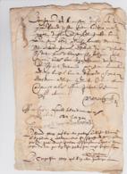 Document Du ?? Mai 1614 - M. Berguier à Châteaurenard (13) - Parchemin - Manuscrit - Manuscrits