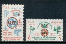 Yemen 1965 Mi#423-424 ITU Intl. Telecommunication Union Cent. MUH - Yemen