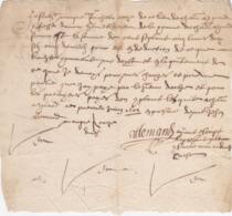 Document Du 1er Juin 1604 - M. Allemand à Châteaurenard (13) - Parchemin - Manuscrit - Manuscrits