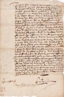 Document Du 10 Janvier 1601 - M. Nicolas à Châteaurenard (13) - Parchemin - Manuscrit - Manuscrits