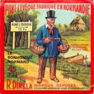ETIQUETTE DE FROMAGE - PONT L'EVEQUE - LE BONHOMME NORMAND - Fromage