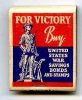 POCHETTE D'ALLUMETTES éditée Au Etats-Unis Pendant La Dernière Guerre Mondiale -  Guerre 39/45 - 1939-45