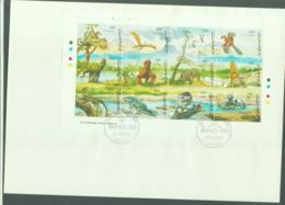 PREHISTORIC ANIMALS -GUYANA - 1993- DINOSAURS III SHEETLET OF 12  ON FDC - Guiana (1966-...)