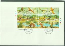 PREHISTORIC ANIMALS -GUYANA - 1993- DINOSAURS I SHEETLET OF 12  ON FDC - Guiana (1966-...)