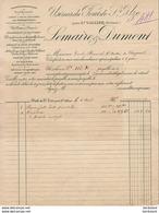 LEMAIRE ET DUMONT A PONT ST UZE PRÈS ST VALLIER DRÔME ............. FACTURE  DE  1908 - France
