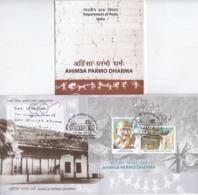 India  2019  Mahatma Gandhi  Ahimsa Parmo Dharma  2v  SS  Kanpur  First Day Cover  #  21957 D  Indien Inde - Mahatma Gandhi
