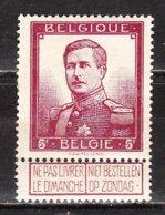 122*  Pellens - LA Bonne Valeur - MH* - Vendu à 10% Du COB!!!! - 1912 Pellens