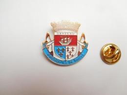 Superbe Pin's En Relief , Blason De La Ville De Sarzeau , Presqu'île De Rhuys , Morbihan - Villes