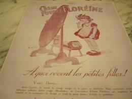 ANCIENNE PUBLICITE UNE CREME ET POUDRE FLOREINE  1927 - Afiches