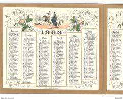 CALENDRIER BONNE ANNEE 1963 PIERRE RIGAUT PDG Des PAPETERIES De FRANCE - JUNDT EDITEUR - VOIR Les 6 SCANS - Big : 1961-70