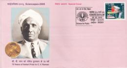 India  2005  75 Yeras Of Nobel Prize  To  C. V. Raman  Scientist  Special Cover  #  21583 D  Indien Inde - Nobel Prize Laureates