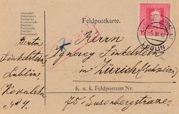 Feldpostkarte 1918, KuK Feldpost Lublin Nach Zürich, Zensiert Feldkirch - Autres - Europe