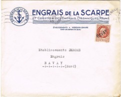 ENVELOPPE  A EN-TETE ENGRAIS DE LA SCARPE VITRY EN ARTOIS - Marcophilie (Lettres)
