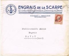 ENVELOPPE  A EN-TETE ENGRAIS DE LA SCARPE VITRY EN ARTOIS - 1921-1960: Periodo Moderno