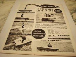 ANCIENNE PUBLICITE LE PROMENEUR IDEAL ET SUR KATAMAR 1964 - Boats