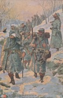 Rare Cpa Magnifique Illustration Les Poilus Au Retour Des Tranchées - 1914-18