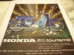 ANCIENNE PUBLICITE  50 CC TOURISME  MOTO HONDA 1964 - Motor Bikes
