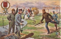 Rare Cpa Magnifique Illustration La Légion D'honneur Chevalier  Comment On La Gagne - 1914-18