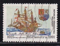 Madagascar 1991, Ship, Minr 1322, Really Used - Madagascar (1960-...)