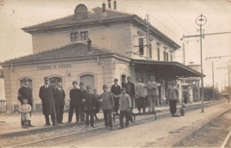 """0745 """"STAZIONE DI AIRASCA (TO) """" ANIMATA. CART. ILL. ORIG. SPED. 1915 - Italia"""