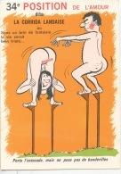 34è Position De L'Amour : La Corrida Landaise (La Gauloiserie - Cp Vierge) Estocade Banderille - Humour