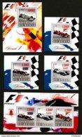 FORMULE 1 - 5 BLOCS FEUILLETS NEUFS ** - Automobilismo - F1