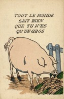 Illustrateur TOUT LE MONDE SAIT BIEN QUE TU N'ES  QU'UN GROS  (COCHON) RV - Humour