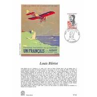 Encart Sur Papier Glacé - Louis Blériot - 1/07/1972 Cambrai - Documenti Della Posta