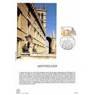 Encart Sur Papier Glacé - Montpellier - 30/03/1985 Montpellier - Documents De La Poste