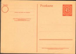 Alli.Bes.45 Pfg.Ziffern-Ganzsache P 955 Ungebraucht - Zona AAS