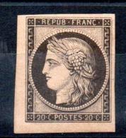 SUPERBE - YT N° 3b CDF - Neuf * - MH - Cote: 1100,00 € - 1849-1850 Ceres