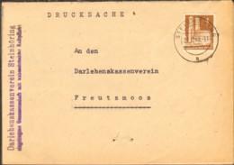 Bizone 4 Pfg.Bauten Auf Drucksache Von 1948 Aus Steinhöring - Zone Anglo-Américaine
